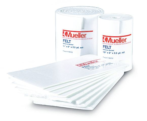 p  mueller adhesive backed felt