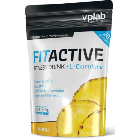 VPLab Fit Active Fitness Drink + L-carnitine 500 г