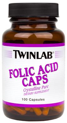 Twinlab Folic Acid 100 caps