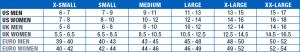 таблица размеров ATF®2  Ankle Brace
